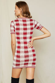 Jolly Knit Plaid Dress