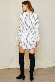 storets.com Hera Polka Dot Ruched Dress