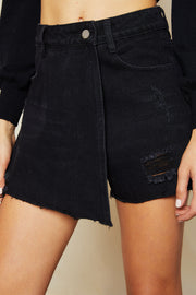 Bonnie Wrapped Denim Skirt