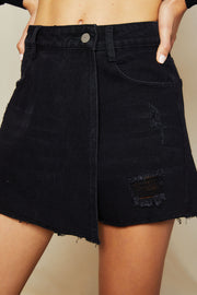 storets.com Bonnie Wrapped Denim Skirt
