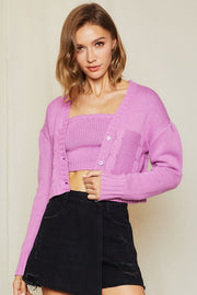 Cherie Knit Tube Top and Cardigan Set