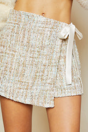 storets.com Mabel Tweed Wrapped Skort