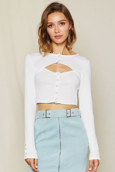 Melanie Cutout Crop Top