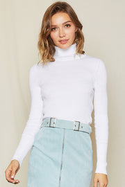 Irina Ribbed Turtleneck Top