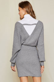 storets.com Cecily Wrap Knit Dress