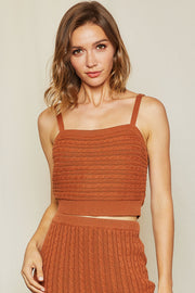 Linnea  Cable Knit Tank Top