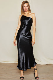 Carrie One Shoulder Satin Cami Dress