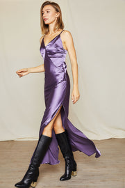 Lora Satin Plunge Cami Dress