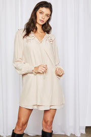 storets.com Audrey Tiered Hem Shift Dress