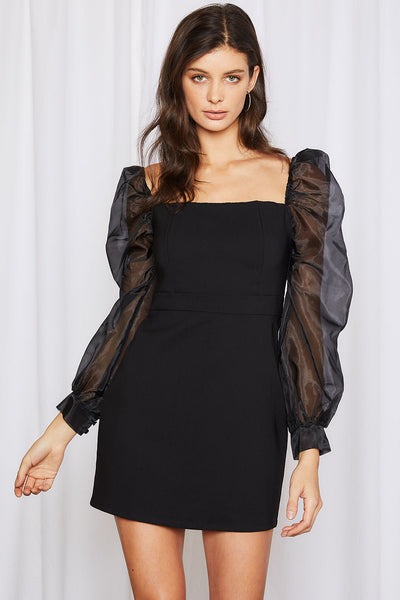 storets.com Hailey Organza Sleeve Dress