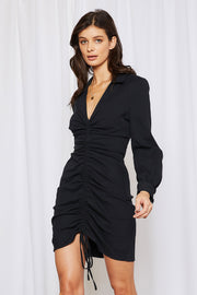 Everly Ruched Front Plunge Dress