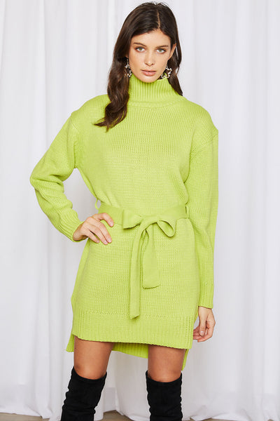 Alexa Belted Sweater Dress