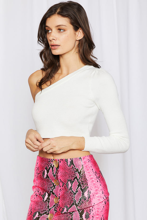 storets.com Nova One Shoulder Cropped Top