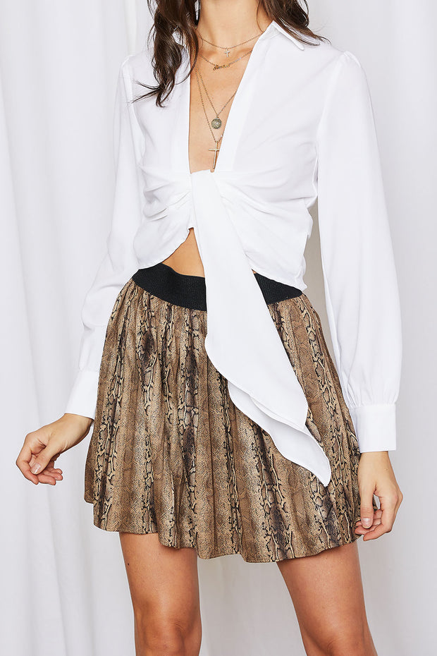 storets.com Zoe Python Print Pleated Skirt