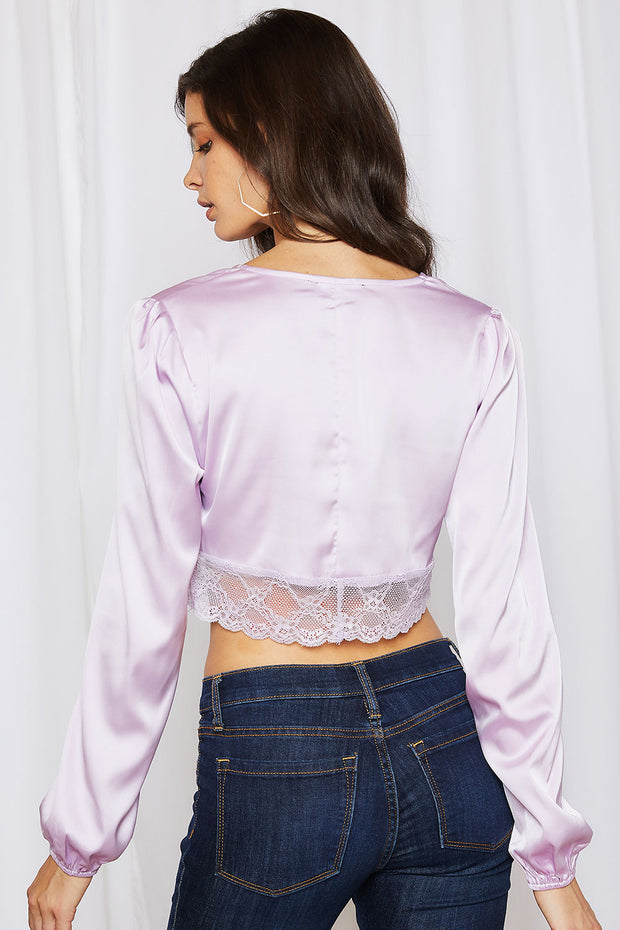 storets.com Alice Satin Corset Cropped Blouse