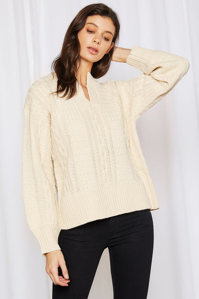 Sadie Cable Knit Pullover