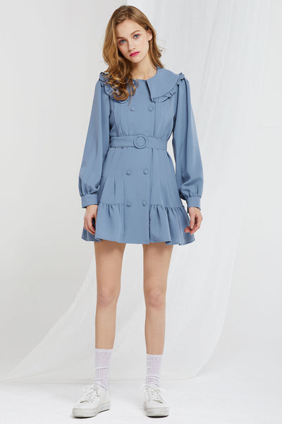 Sua Wide Collared Dress w/ Belt