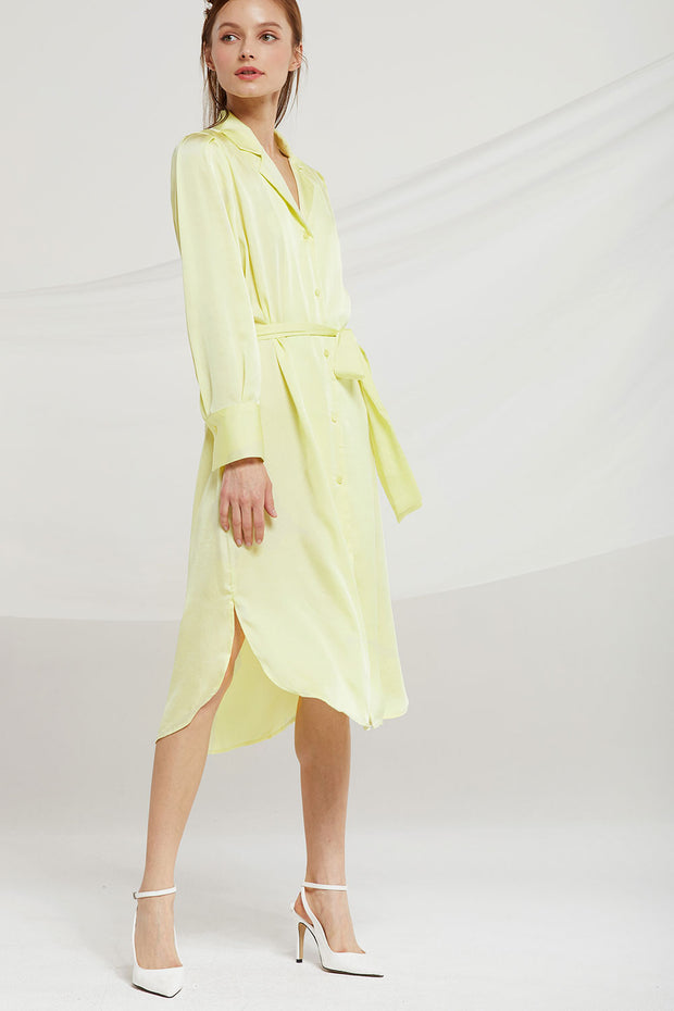 Sylvia Long Shirt Dress w/ Belt