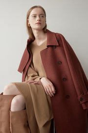 [NUVO10] double collar trench long coat