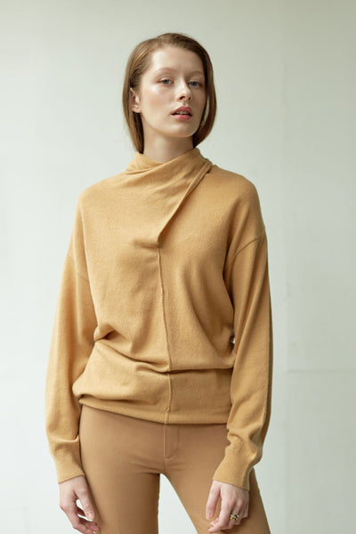 [NUVO10] KNIT_scarf neck sweater