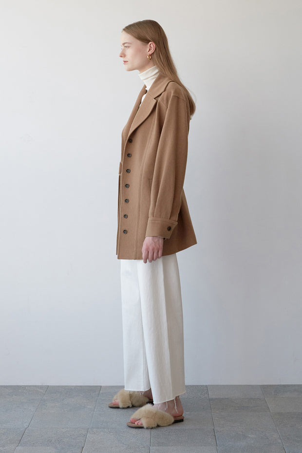 [NUVO10] camel belted wool jacket