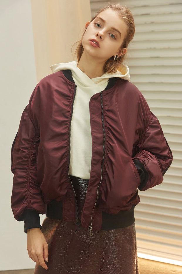 [NUVO10] JUMPER_color bomber jacket