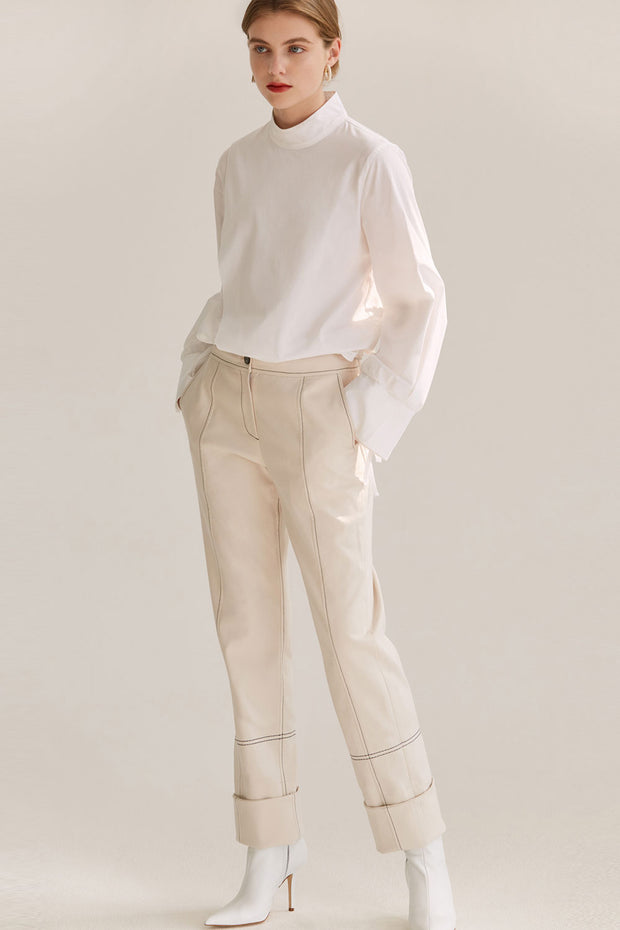 [NUVO10] PANTS_rolled cuffs trouser