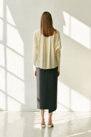 [NUVO10] SKIRT_side wrap long skirt
