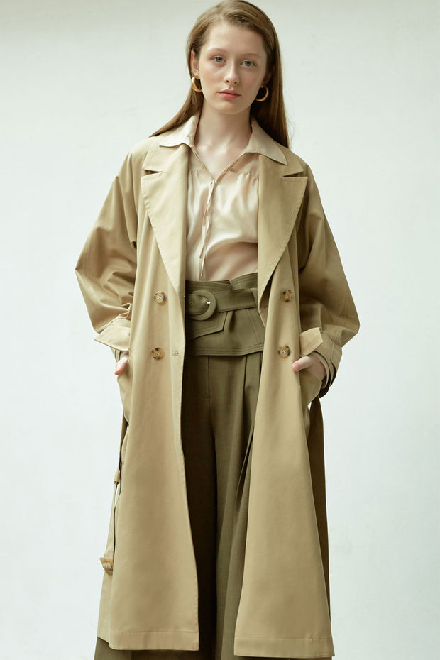 [NUVO10] TRENCH COAT_raglan sleeve trench coat