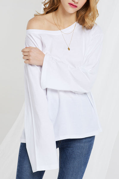 Tabby Wide Scoop Neck Tee-3 Colors