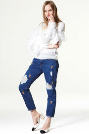 storets.com Oh My Deer Embroidery Jeans