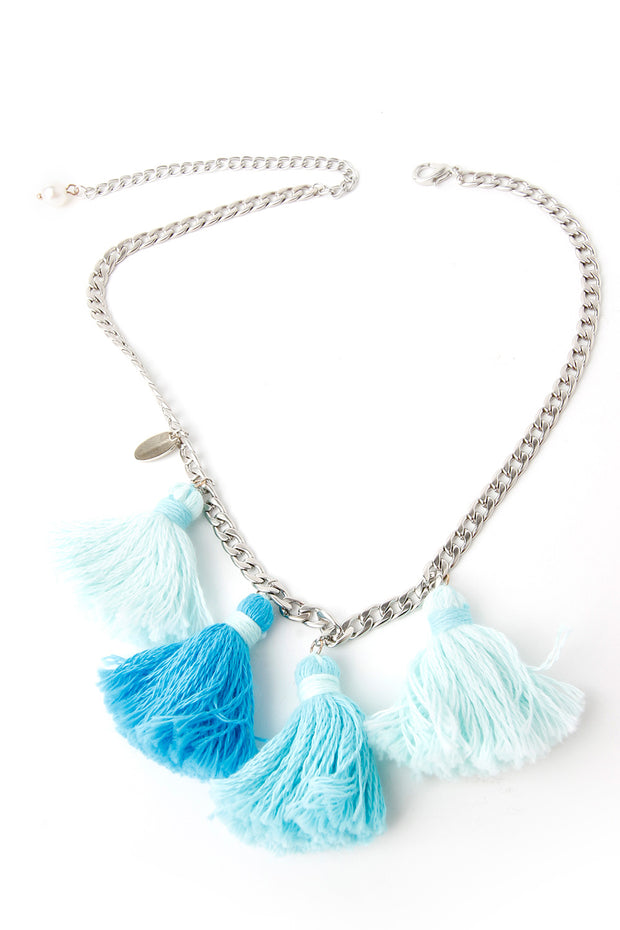 storets.com Bluemint Tassle Necklace