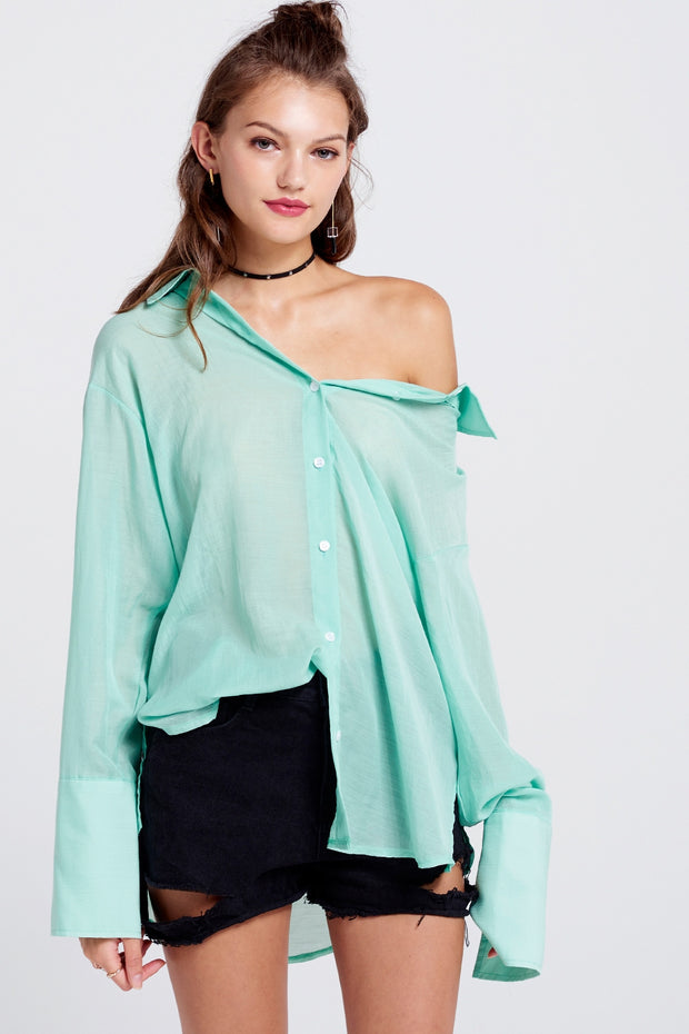 Alison Oversized Cuff Sleeve Shirt