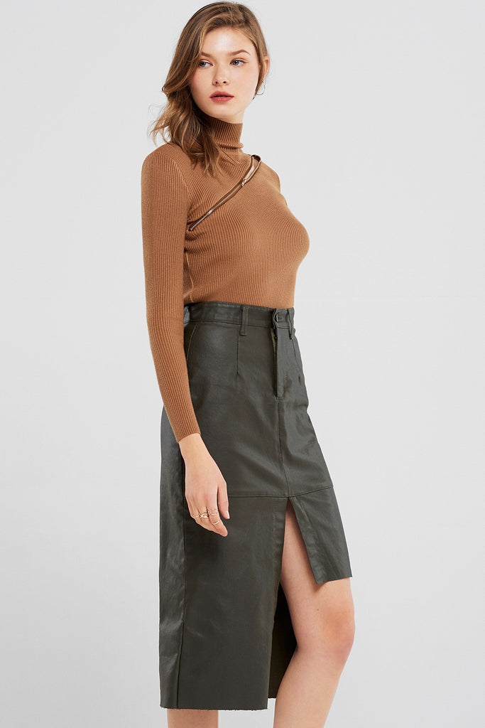 Andrea Unbalanced Coated Skirt