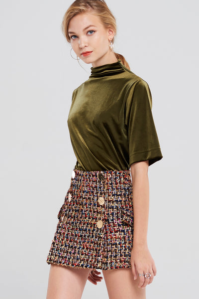 Hera Tweed Classic Skirt-Multi