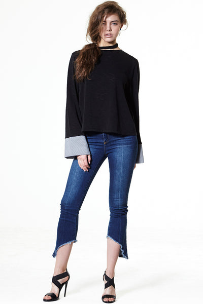 storets.com Slash Out Flare Jeans