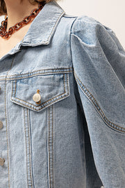 Evelyn Puffed Denim Jacket