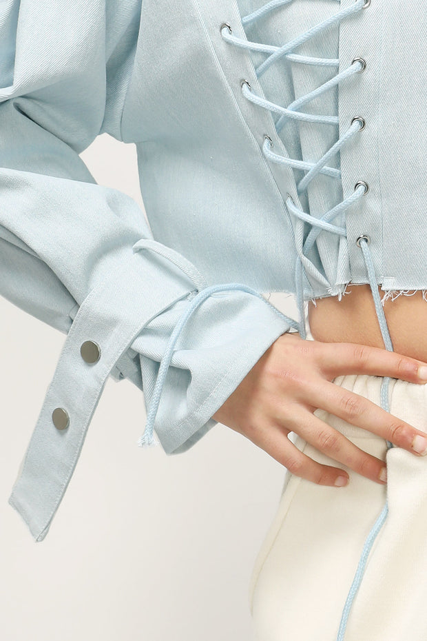Laura Corset Detail Cropped Jacket