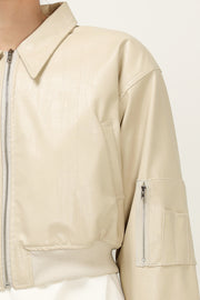 storets.com Holly Pleather Bomber