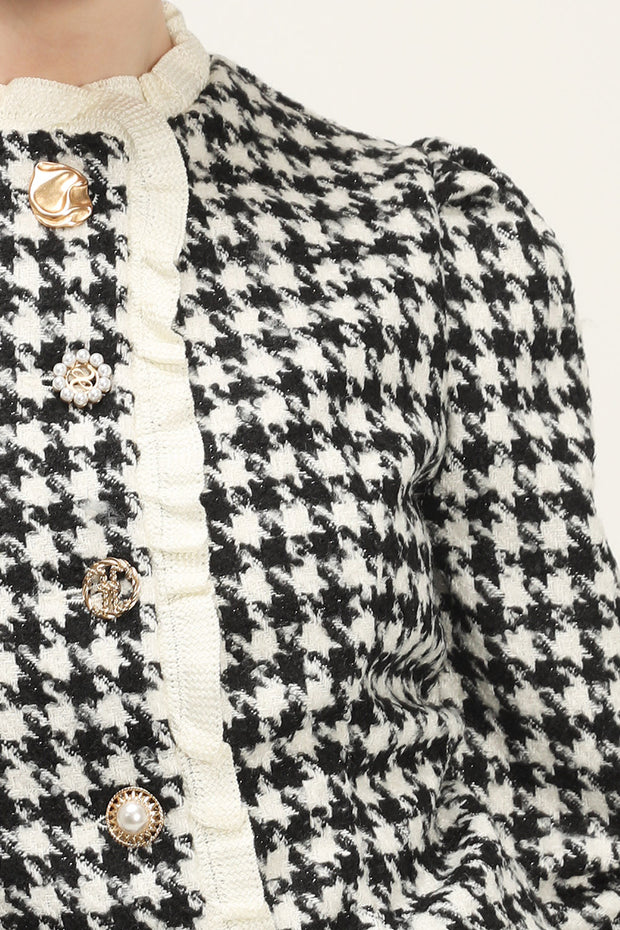 storets.com Andrea Houndstooth Cropped Jacket