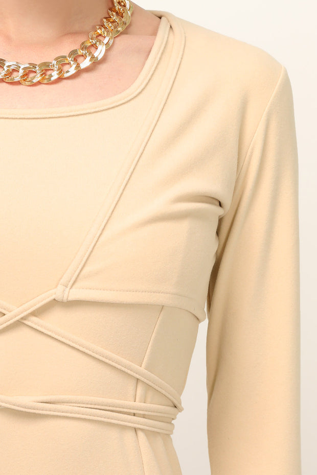 Josephine Tie Detailed Bolero Shrug