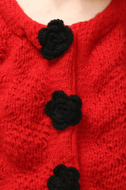 storets.com Leia Flower Button Cardigan