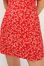 Allison Floral Pintuck Dress