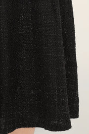 storets.com Madeline Pleated Tweed Maxi Skirt