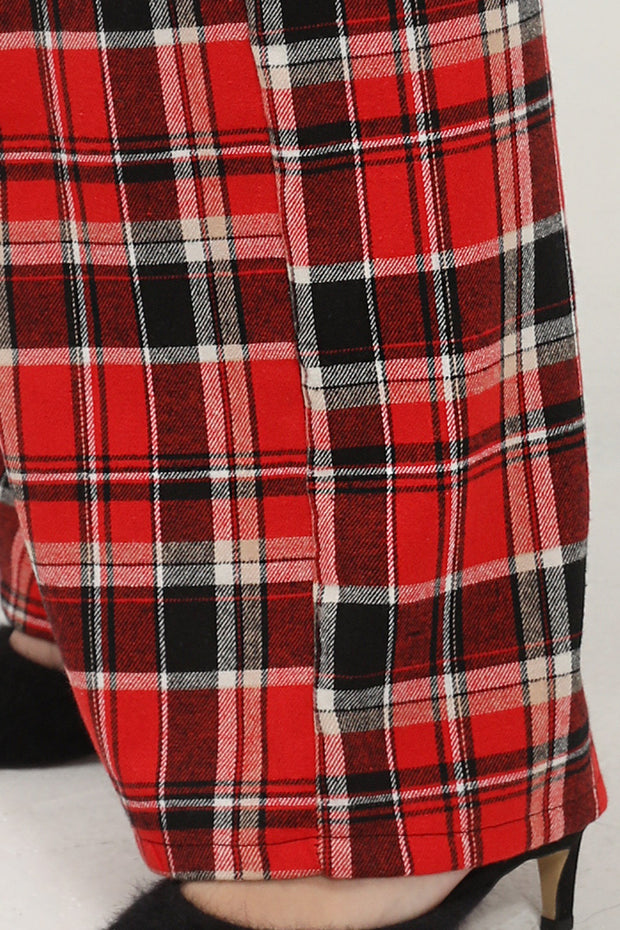 storets.com Jordyn Plaid Wide Leg Pants