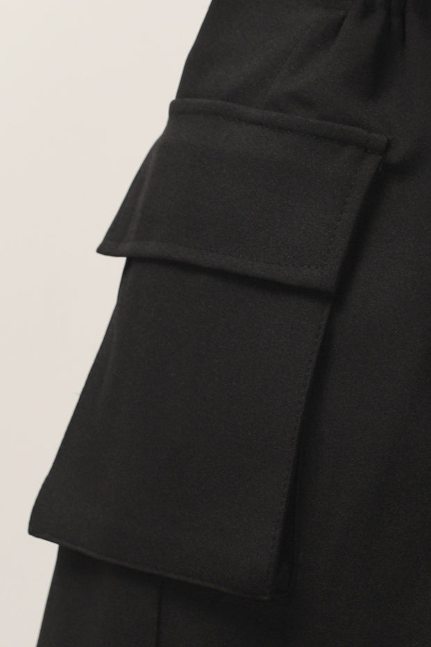 storets.com Roselyn Flap Pocket Wrap Skirt