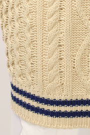 storets.com Ellie Oversized Cable Knit Vest