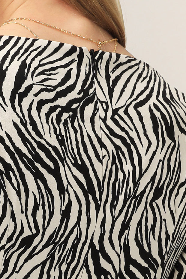 storets.com Remi Zebra Ruched Dress