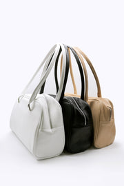 Faux Leather Bowling Bag