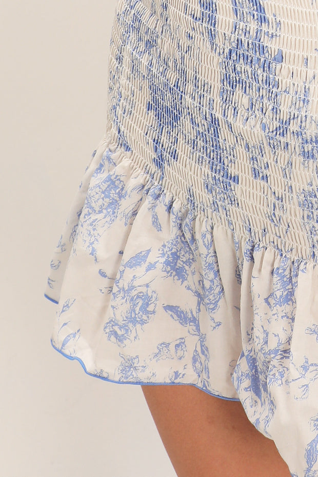 Zoey Floral Smocked Skirt